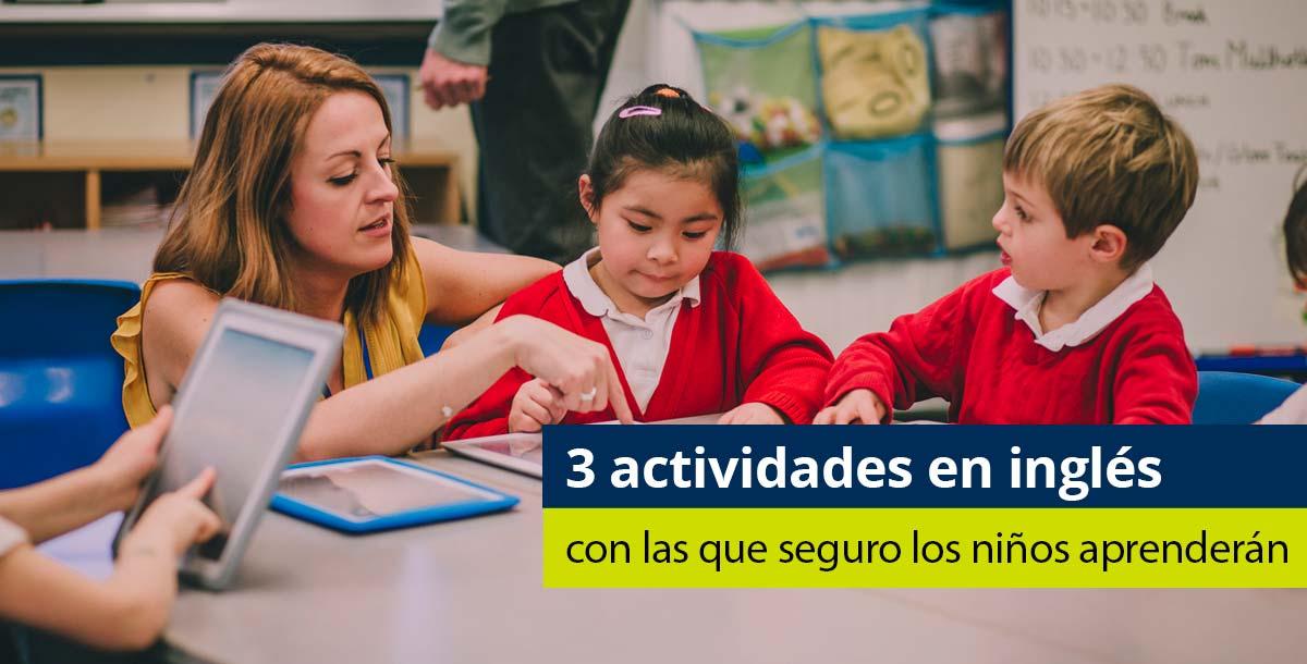 actividades en inglés para ninños