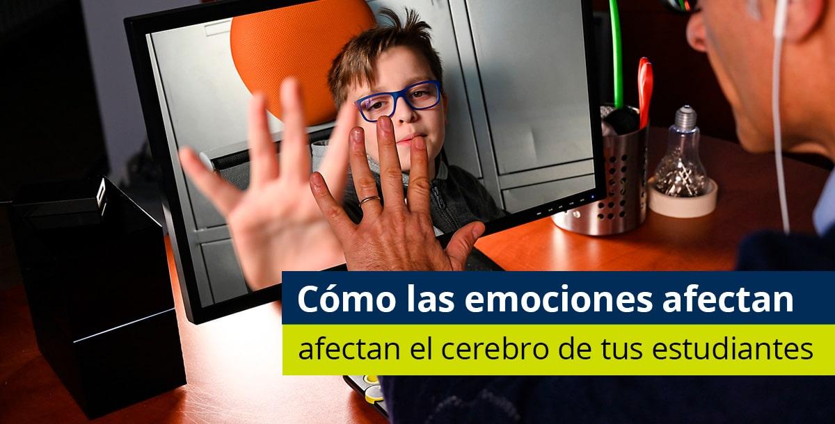 niño hablando de sus emociones virtualmente